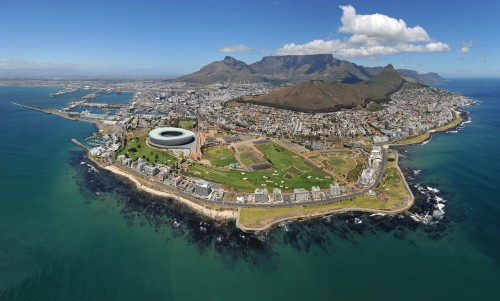 Cape Town Arial View - South Africa